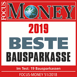 2019 Beste Bausparkasse Focus Money
