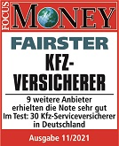 Focus Money Fairster Kfz Versicherer
